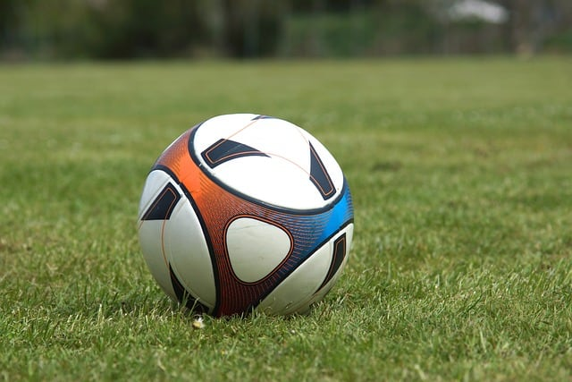 Close Up Soccer Ball in Field