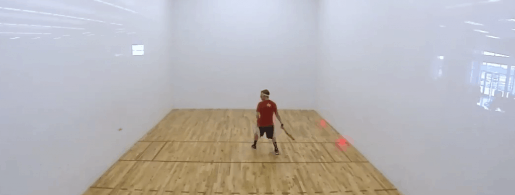 racquetball court center position