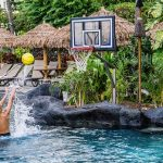 pool basketball system